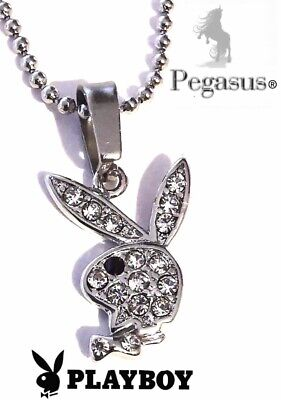 £12.99 • Buy NEW & BOXED OFFICIALLY LICENSED PLAYBOY Clear Cz Crystal Necklace Pendant