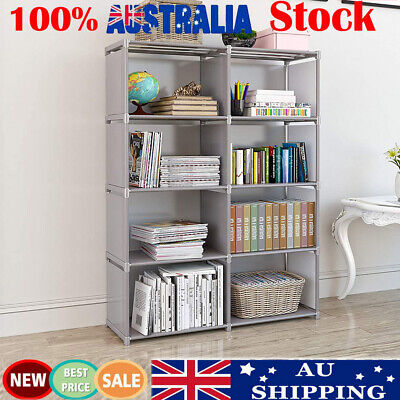 AU41.66 • Buy 8 Cube Bookcase Display Shelves Storage Organiser Book Shelf Rack Shelving Unit