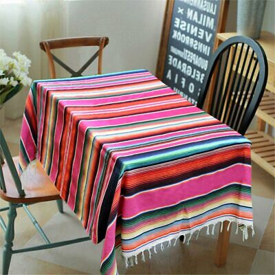 £14.45 • Buy Large Cotton Mexican Serape Blanket Striped Tablecloth Mexican Wedding Decor