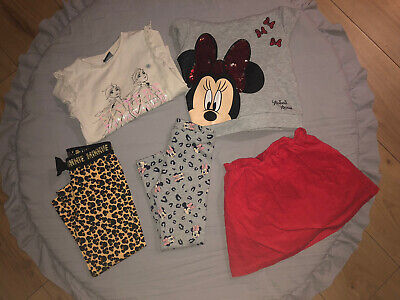 Girls Kids Clothes Bundle 3-4 Years Hoodie Tops Leggings Skirt Mini Mouse Frozen • 2£