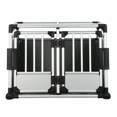 £310.99 • Buy Double Transport Box Cage Crate Aluminium Two Dogs Removable Centre Partition
