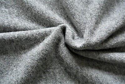 £7.99 • Buy Light Grey Soft Ribbed Boucle Knit Boiled Wool Cashmere Blend Made In Italy C145