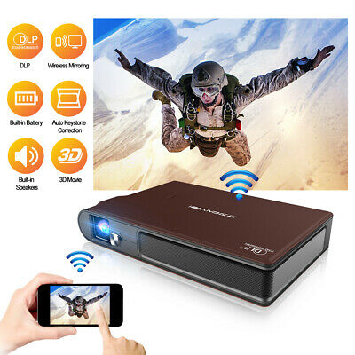 7000:1 WiFi  Full HD Mini DLP 3D Projector Wireless Airplay For IPhone HDMI USB • 339.99£