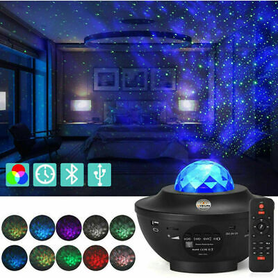 Galaxy Night Light Projector Ocean Wave Music Starry Projector Light  LED Lamp • 24.99£