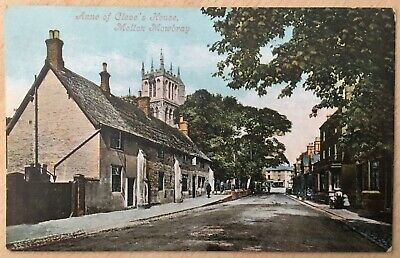 Vintage Postcard Of Anne Of Cleve's House Melton Mowbray (10) • 3.99£