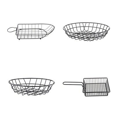 £8.70 • Buy Snacks Chip Food Baskets Creative French Fries Serving Party Supplies Black