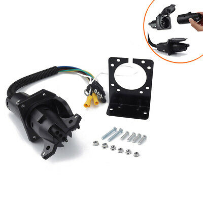 $ CDN36.73 • Buy 4 To7 Way RV Trailer Connector Socket With Wiring Harness And Mounting Bracket
