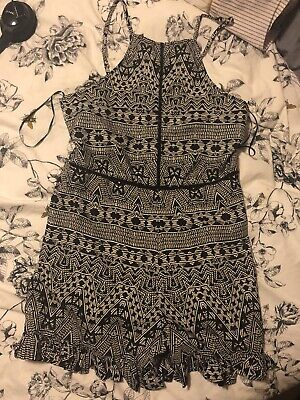 Black And White Primark Size 12 Playsuit BNWOT Summer Holiday One Piece • 2.90£