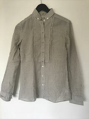 AU15 • Buy Massimo Dutti Beige And White Stripe Oxford Shirt Sz 38 Excellent Condition