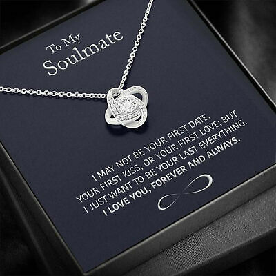 AU35.22 • Buy To My Soulmate Necklace, Valentines Day Pendants Gifts For Her, Wife, Girlfriend