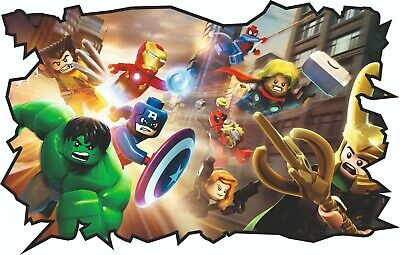 £13.99 • Buy Lego Marvel Style Childrens Wall Sticker Decal Kids Boy Girl - Top Quality Large
