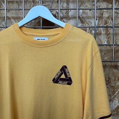 $ CDN79.40 • Buy Palace Tri-Ferg CH Tee T-Shirt Large Yellow/burg Cut & Sew Supreme Cond