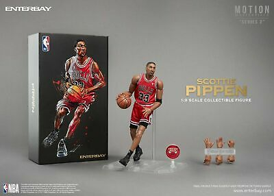 $249.99 • Buy Scottie Pippen Enterbay Masterpiece Motion Series 2 1/9 Scale Bulls Figure Nib