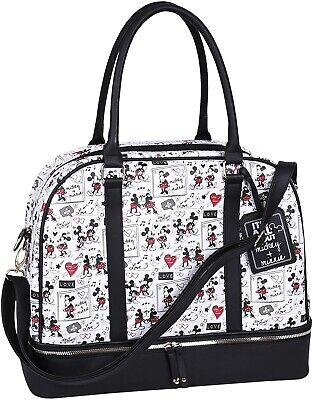 Disney Mickey Mouse Minnie Mouse Large Travel/Overnight Bag • 5£