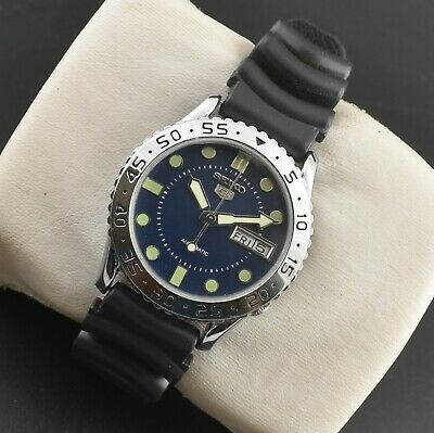 $ CDN46.91 • Buy Vintage Seiko 5 Automatic Sports 17 Jewels Cal.6309a Day Date Men's Wrist Watch