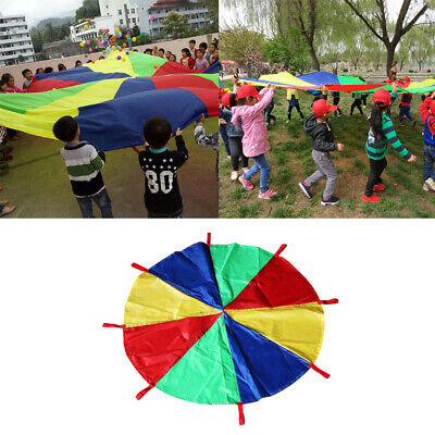 6~16 Foot 4 Colors Kids Play Parachute Tent With 8 Handles Activities Toys • 20.24£