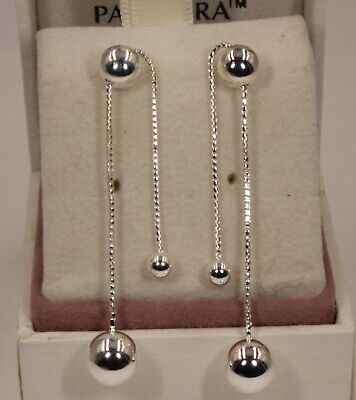 AUTHENTIC PANDORA String Of Beads Drop Earrings 297535 #1602 • 24.39£