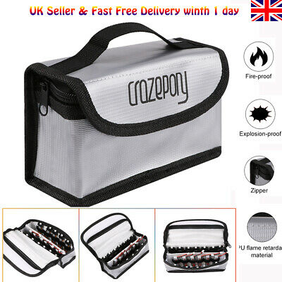 Explosionproof Fireproof Lipo Battery Bag Guard Safe Bag Pouch Case  • 10.79£