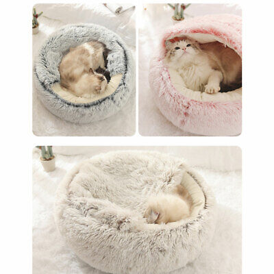 AU30.87 • Buy Pet Dog Cat Calming Bed Warm Soft Plush Round Nest Comfy Sleeping Kennel Cave M3