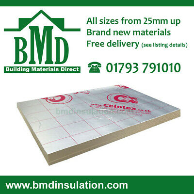 £776.83 • Buy Celotex Insulation Recticel Kingspan TP10 Insulation 2400x1200 100mm 14 Sheets