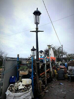 11ft Victorian T-Bar Lamp Post With Copper Top Lamp • 650£
