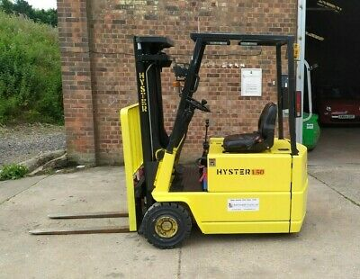£5100 • Buy Hyster A1.50XL Electric 3 Wheel Forklift Triple Mast Container Spec Side-shift