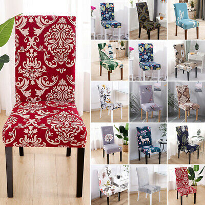 AU16.85 • Buy 1//2/4/6X Dining Chair Seat Covers Slip Stretchy Wedding Banquet Party Covers