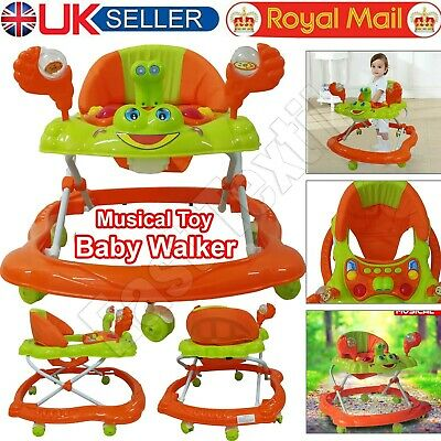 Baby Walker First Steps Push Along Bouncer Activity Ride On Car For Girls & Boys • 26.49£