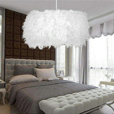£17.49 • Buy Feather Ceiling Pendant Light Shade Morden Living Bedroom Nordic Style Lampshade