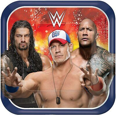 WWE Square Plates, 9', Party Favor One Size, Multicolor • 28.57£