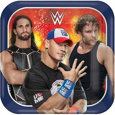 WWE Square Plates, 7', Party Favor • 21.07£