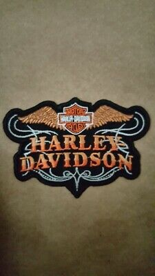Harley Davidson Patch Embroidered Motorcycle Biker Patches Badge Iron/Sew On • 3.99£