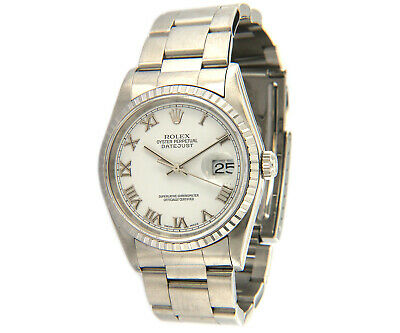 $ CDN6660.68 • Buy 2000 Rolex Datejust 16220, 36mm, White Dial, Steel W/Box
