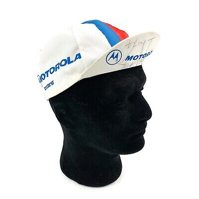 Vintage LANCE ARMSTRONG Signed 90s Motorola Team Worn Cycling Race Hat Cap • 74.41£
