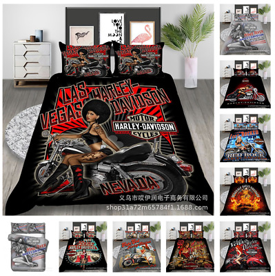 AU66.99 • Buy Harley Belle 3D Bedding Set Duvet Cover Pillowcase Single King Super King AU2F