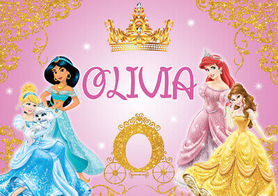 £12.99 • Buy Personalised Name Disney Princesses Princess Poster Print Graphic A4 A3 A2 A1 A0