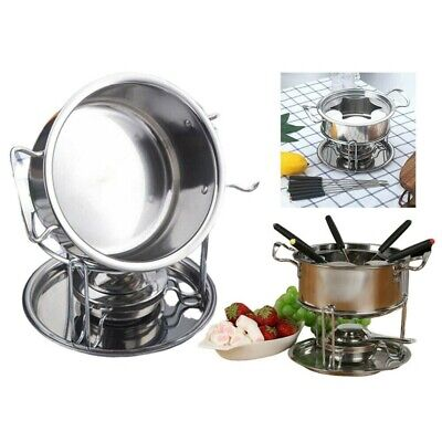 £18.19 • Buy Hot Cheese Chocolate Fondue Set Melting Pot + 6 Colors Forks UK Stainless Steel