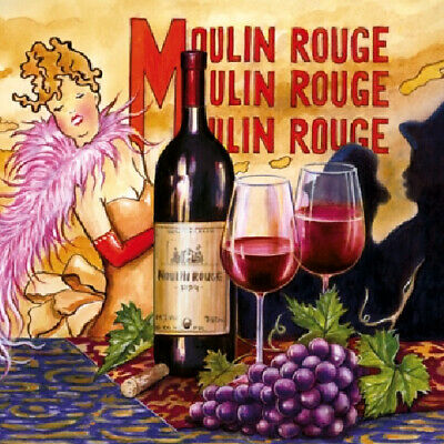 £4.50 • Buy Paper Napkins (Packet X 20) French Moulin Rouge Paris Party Crafting Decoupage