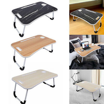Portable Folding Laptop Bed Tray Table Notebook Breakfast Lap Desk Cup Slot • 13.99£