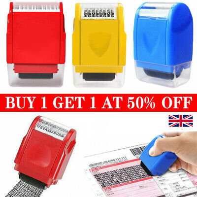 Identity Theft Protection Roller Stamp Data Privacy Confidential Guard Your ID • 5.99£