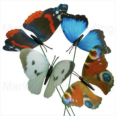 Butterfly Decorations On Sticks Pack Of 4 Indoor/outdoor  • 2.99£