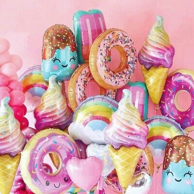 Donut Ice Cream Sweets Desserts Balloons Birthday Party Decorations • 4.28£