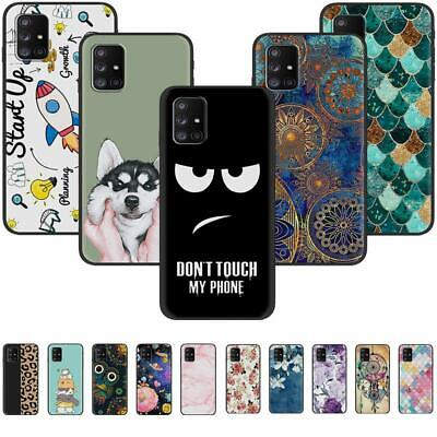 AU5.62 • Buy For OnePlus 8T+ 5G 8T 7T 7 Pro 6T 6 Black Painted TPU Soft Silicone Case Cover