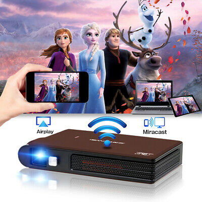 3600lm Pico DLP 3D Projector WiFi Wireless Airplay For IPhone Home Cinema Office • 311.99£