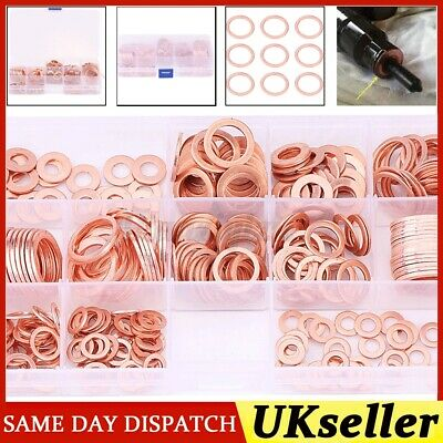Metric Hollow Crush Washer Sump Sealing 5 x M12 Copper Compression Washers