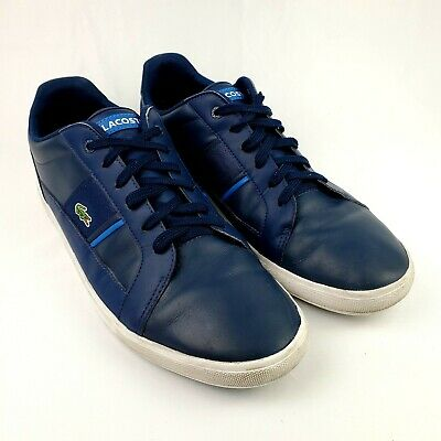 LACOSTE Dreyfus Mens Sport Casual Leather Boat Shoes Size 13 Blue/White • 28.34£
