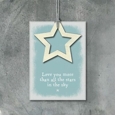 £4.99 • Buy East Of India Outline Star Gift Tag Love You More