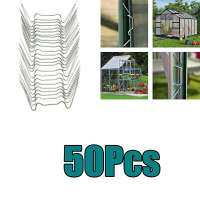 50Pcs W Shape Glazing Clips Stainless Replacement Accessories For Greenhouse • 5.10£