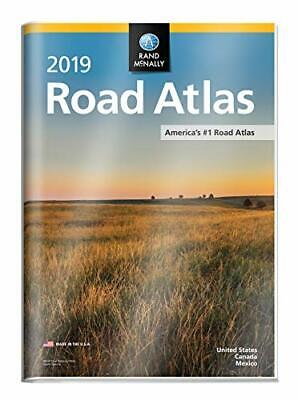 2019 RAND MCNALLY ROAD ATLAS WITH PROTECTIVE VINYL COVER *Excellent Condition* • 20.69£