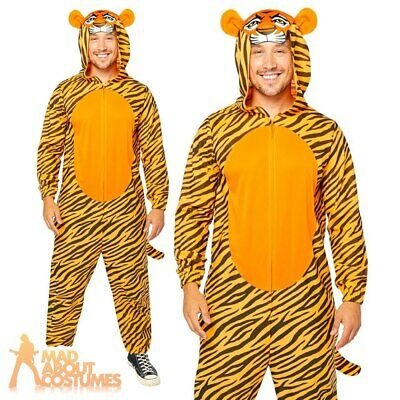 Adult Tiger Jumpsuit Costume Safari Animal Zoo Book Week Day Fancy Dress Outfit  • 18.99£